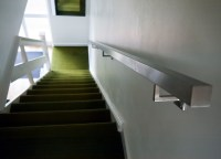 Brushed Stainless Steel Metal Banister Stair Handrail: Pre ...