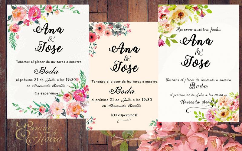 Invitaciones de boda - Esencia de Novia Wedding planner Sevilla