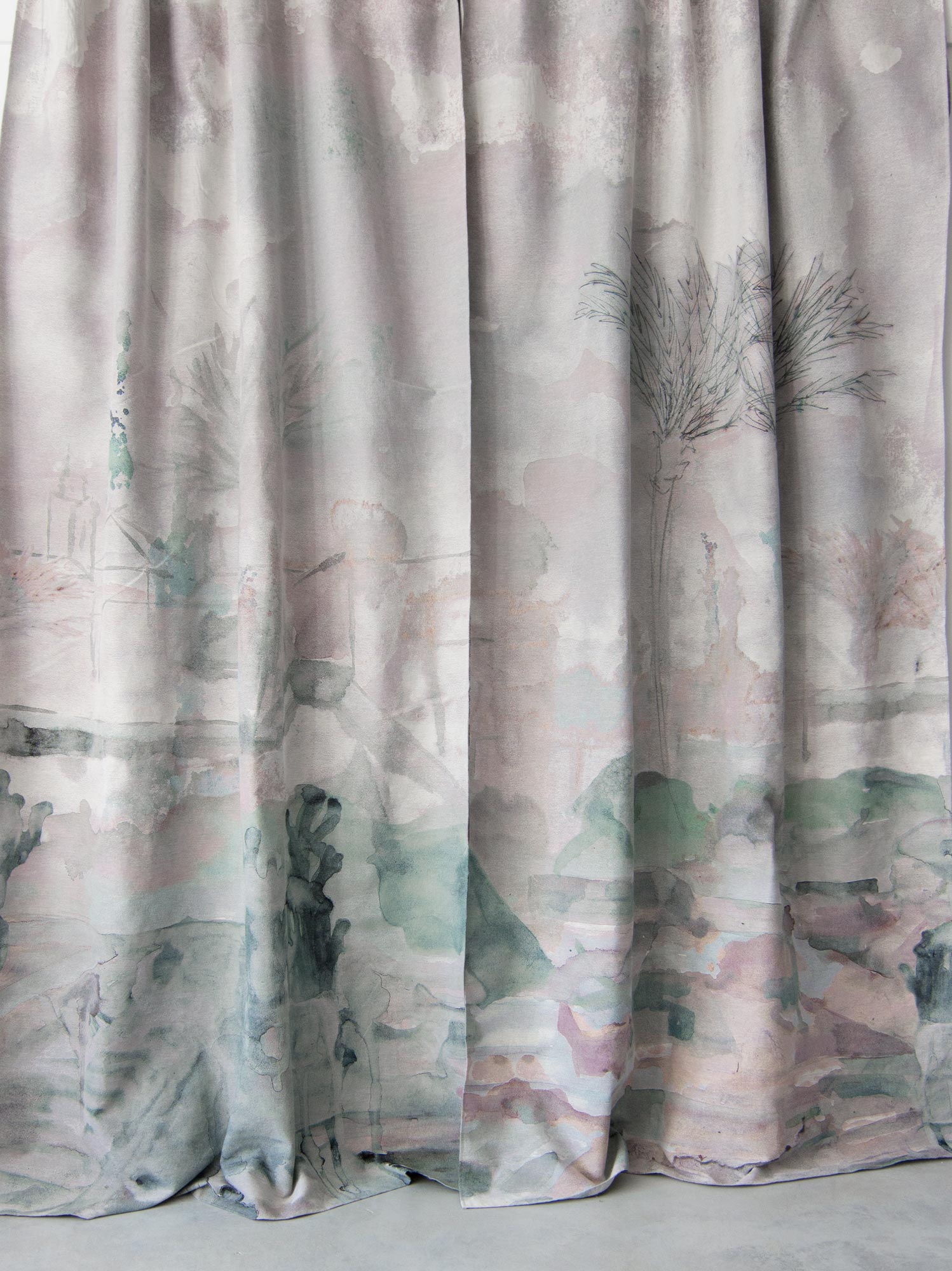 How Many Yards Of Fabric For Curtains Palmeraie Duomo Non Repeating Woven Jacquard Fabric