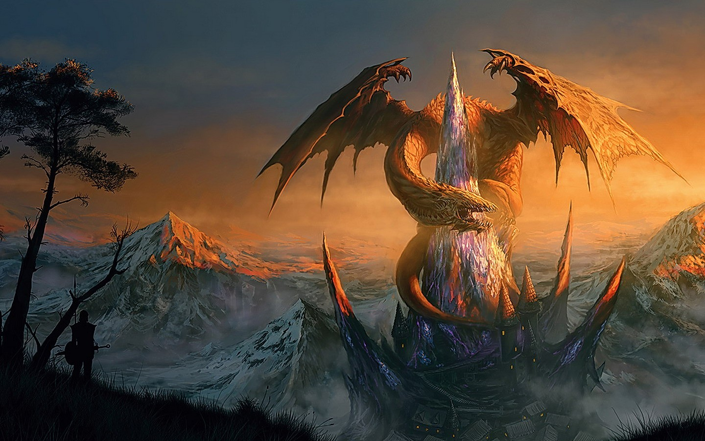 Fantasy World Art Dragon Dragon Fantasy Wallpaper 1440x900 42294