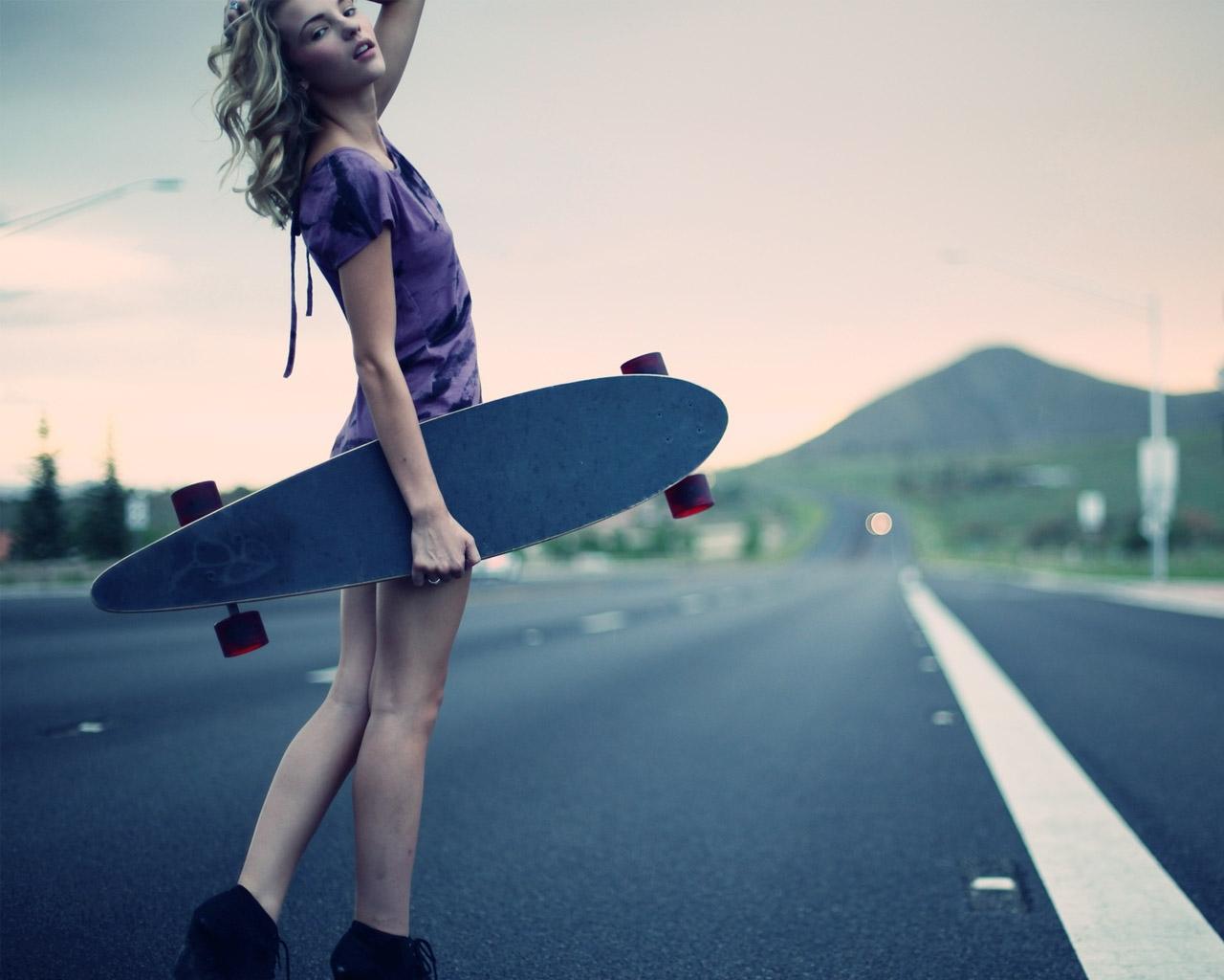 Penny Skateboards Girl Wallpaper Longboard Wallpaper 1280x1024 52901