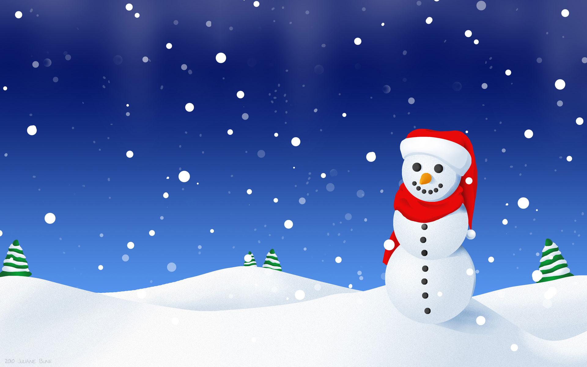 Live 3d Wallpaper Snowing Snowman Wallpaper 1920x1200 47300