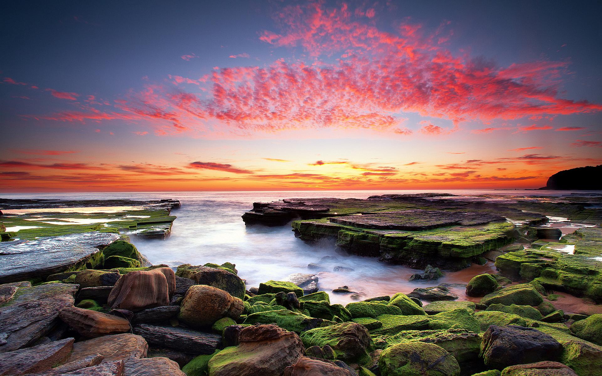 Free Wallpaper Fall 1600x900 Sunset Coast Wallpaper 1920x1200 32134