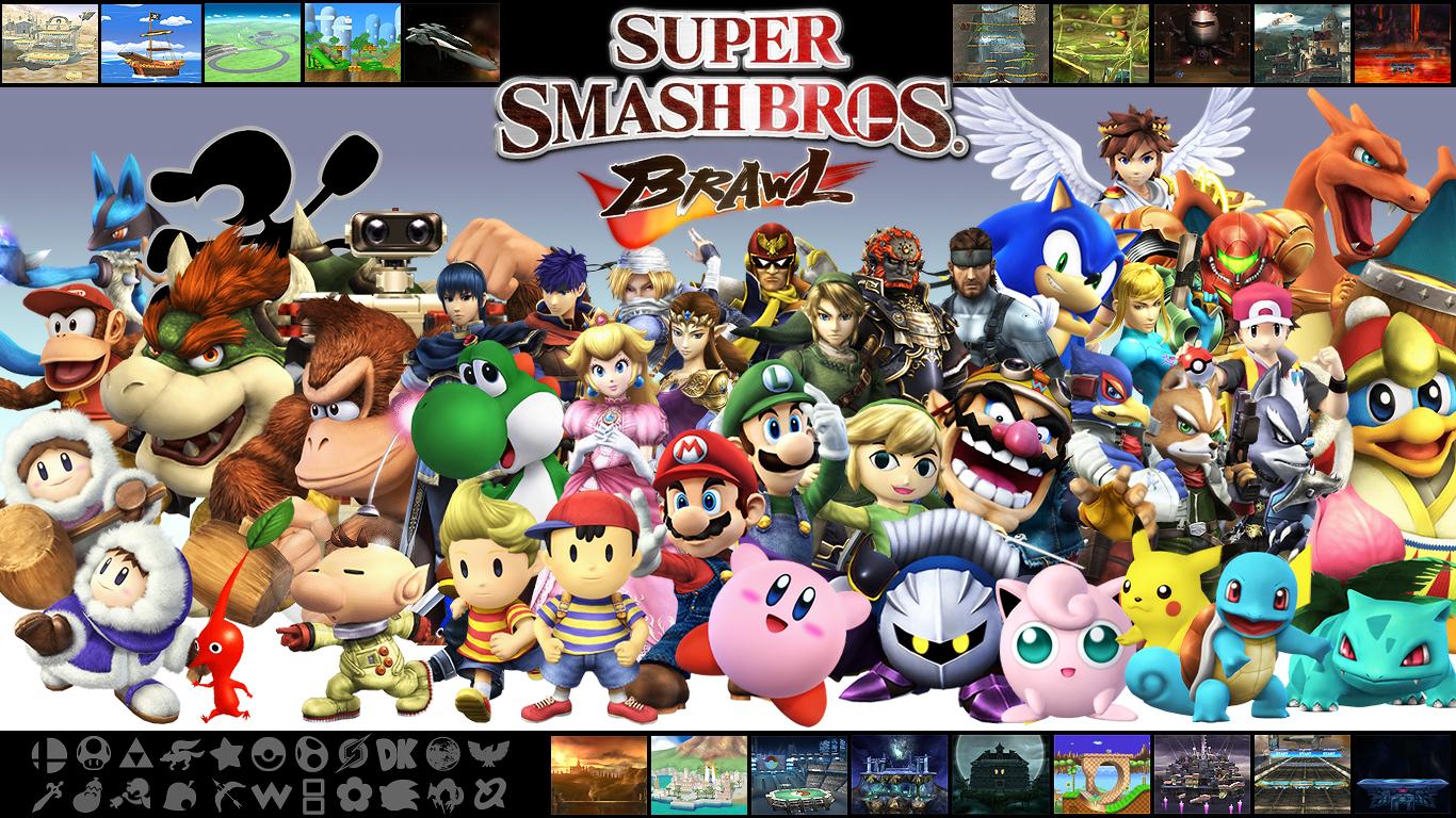 Super Metroid Hd Wallpaper Super Smash Bros Brawl Wallpaper 1366x768 79119