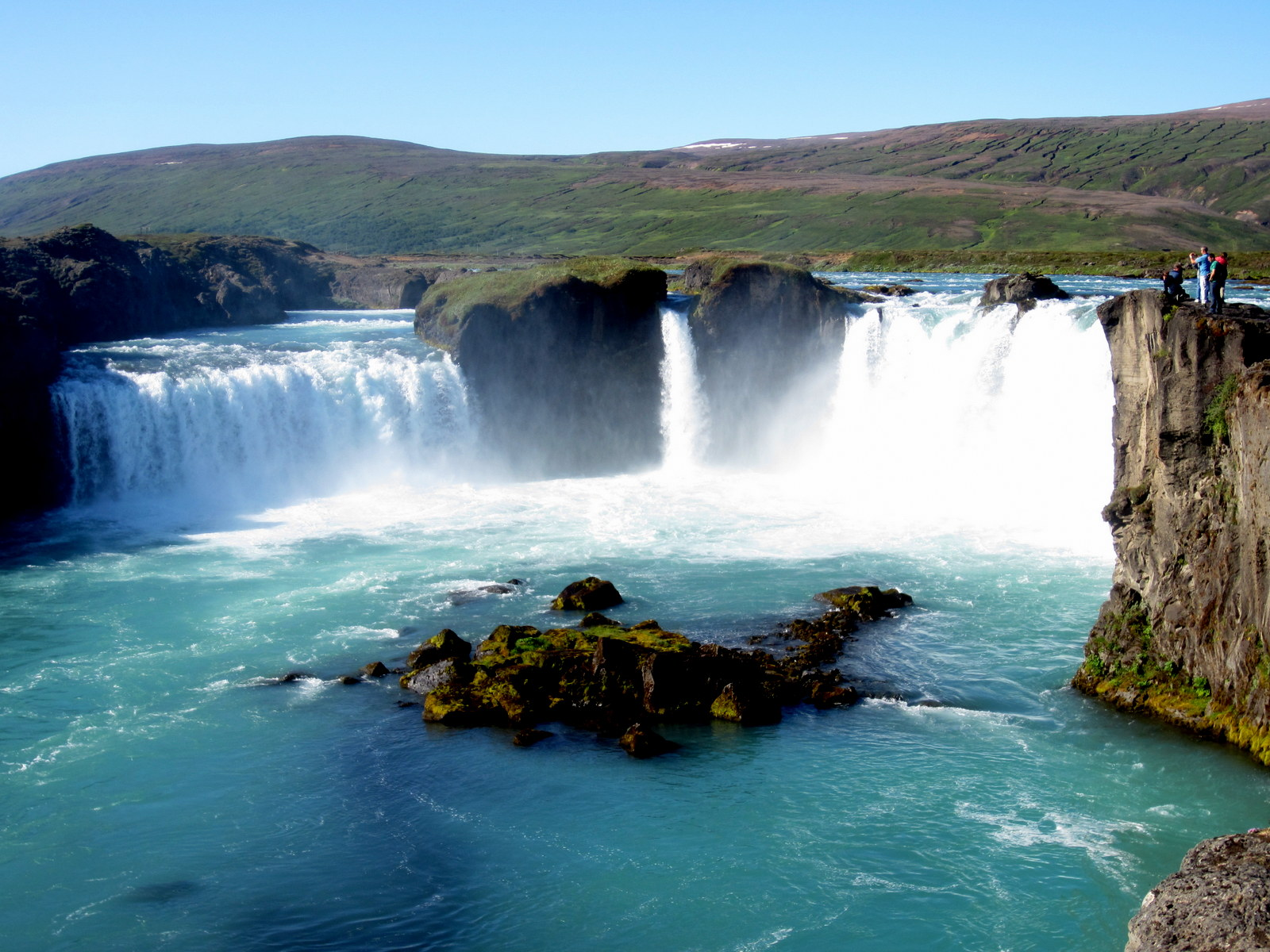 Cool Wallpapers Water Fall Waterfall Godafoss Iceland Wallpaper 1600x1200 32430