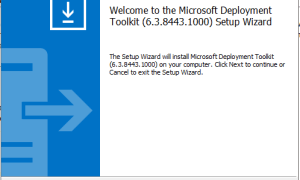 Microsoft Deployment toolkit (MDT) build version 8443 is now available