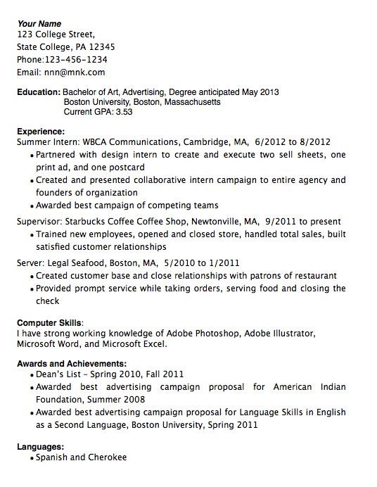 graduated with distinction on resume