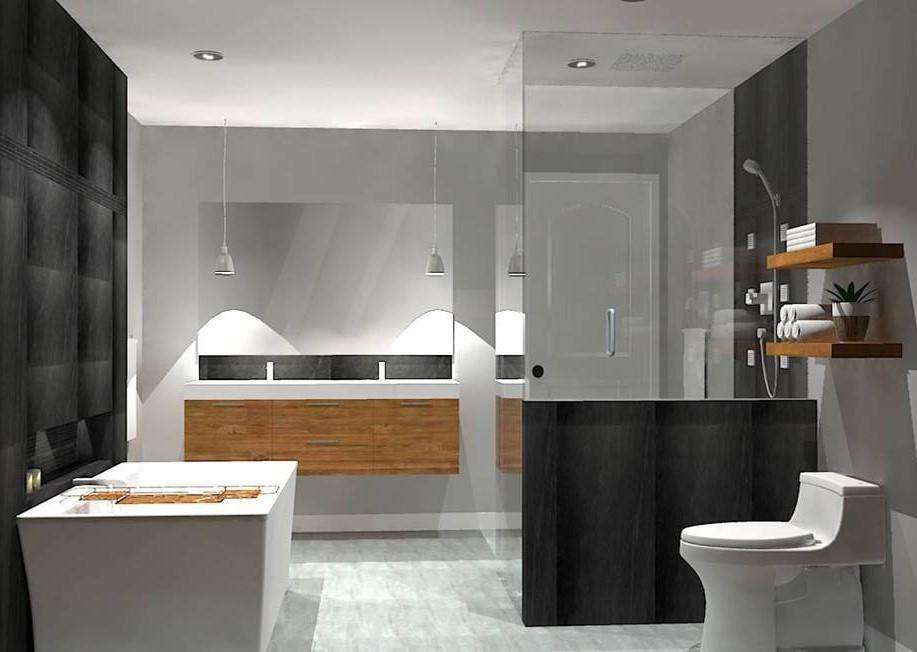 Salle de bain moderne - ESPACE iDESIGN - design d\u0027intérieur par