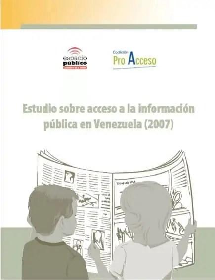 Estudio sobre Acceso a la Información Pública en Venezuela - Año 2007