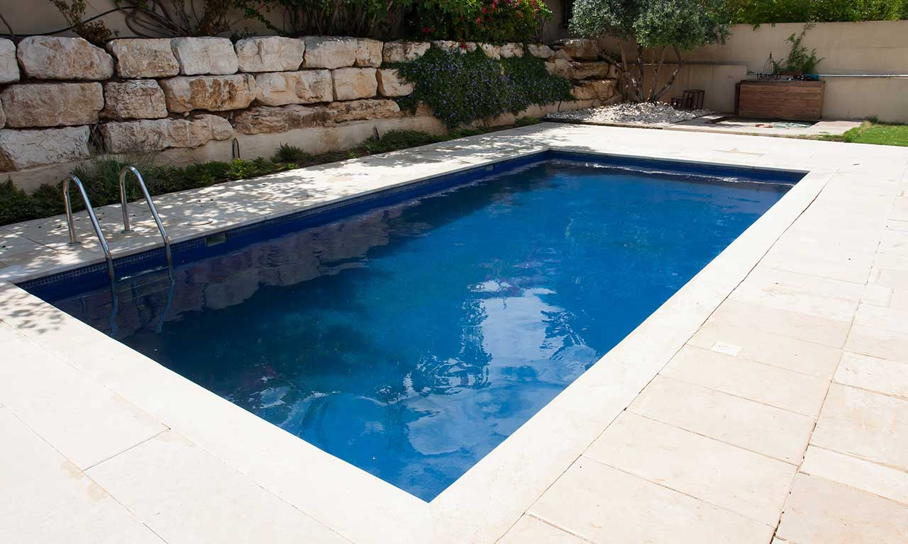 Pool Landscaping And Swimming Pool Stone And Coping
