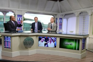 Mike Tirico, Patrick McEnroe and John McEnroe - 126th Wimbledon Championships - July 8, 2012