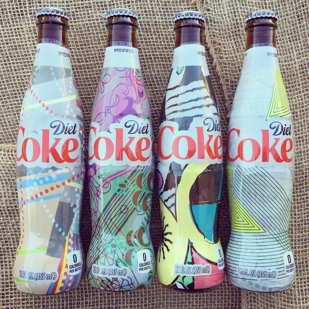 """Diet Coke """"It's Mine"""" Glass Bottles #shop"""