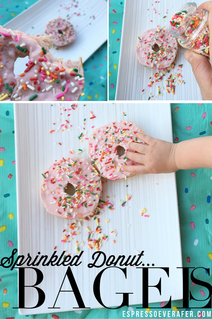 sprinkled donut bagels