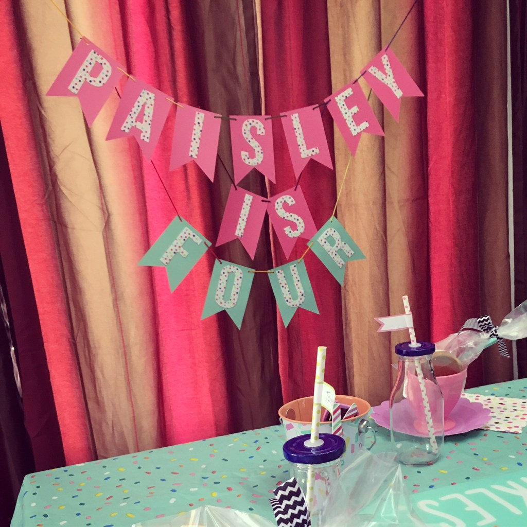 Ice Cream Sundae Bar Themed Birthday Party