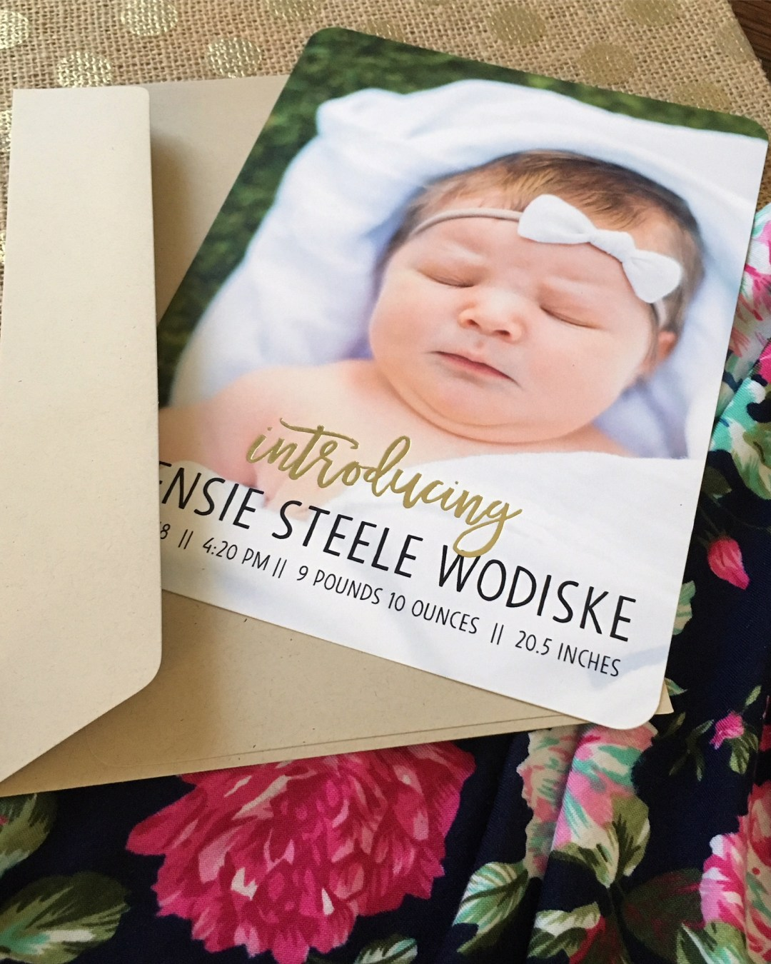 Baby Love | Creating Birth Announcements with Shutterfly
