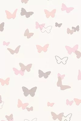 Girls Pink Bedroom Wallpaper Esprit Kids Wallpaper Sweet Butterfly Patterned At Our