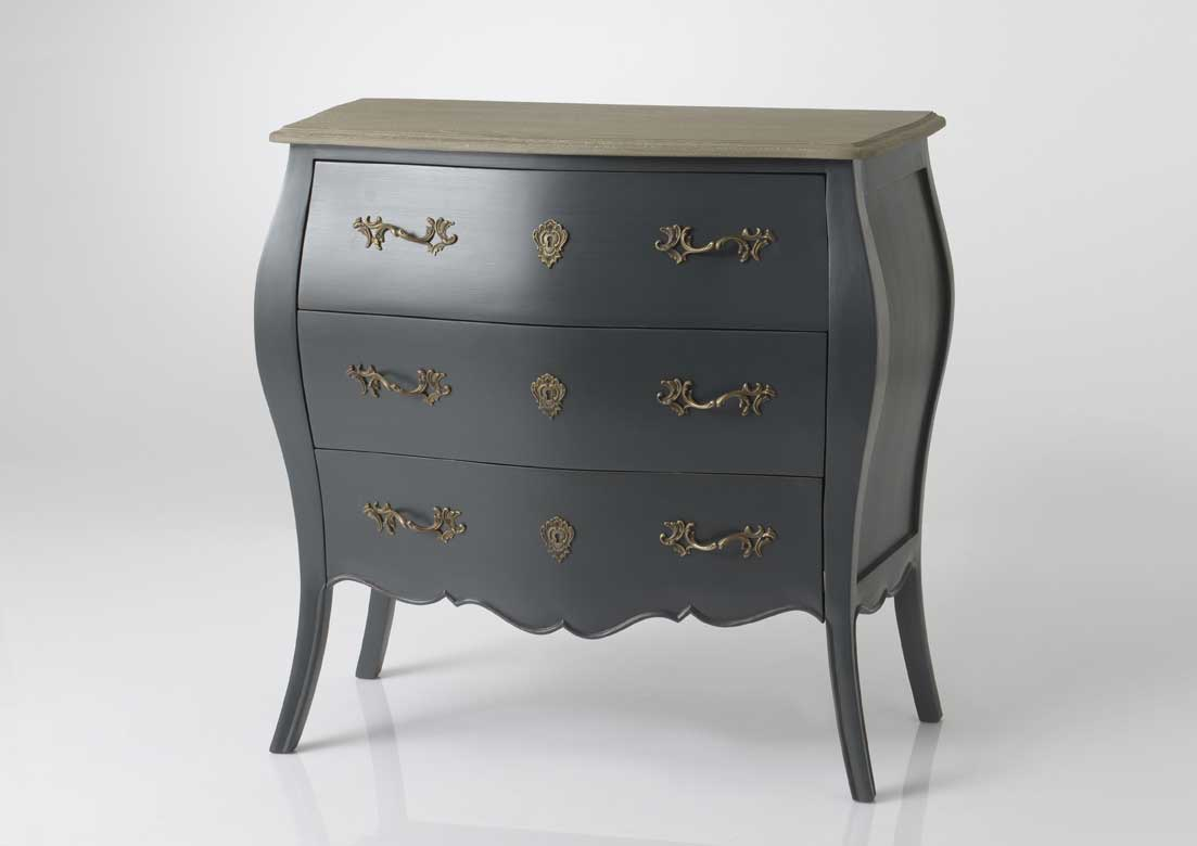 Commode Gris Anthracite Commode Celeste Murano