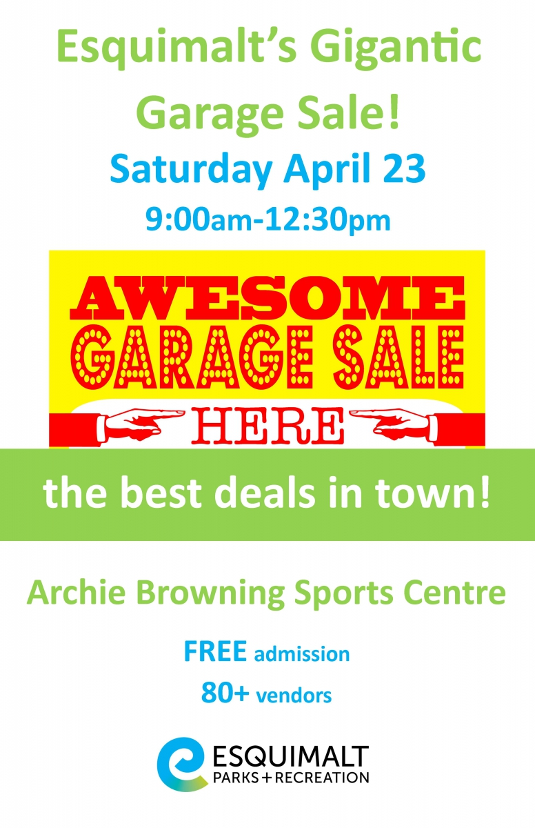 Garage Sale Book Prices Esquimalt S Gigantic Garage Sale Corporation Of The Township Of
