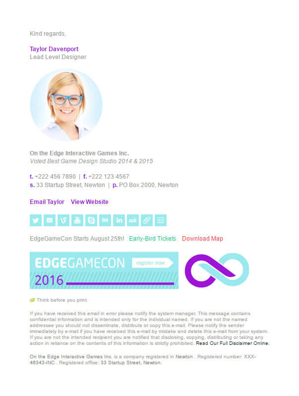 Email Signature Samples - business email template