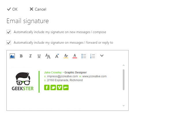 How do I add, change, setup, install email signature Office 365
