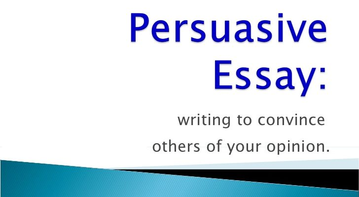 Persuasive Essay Tips On Writing
