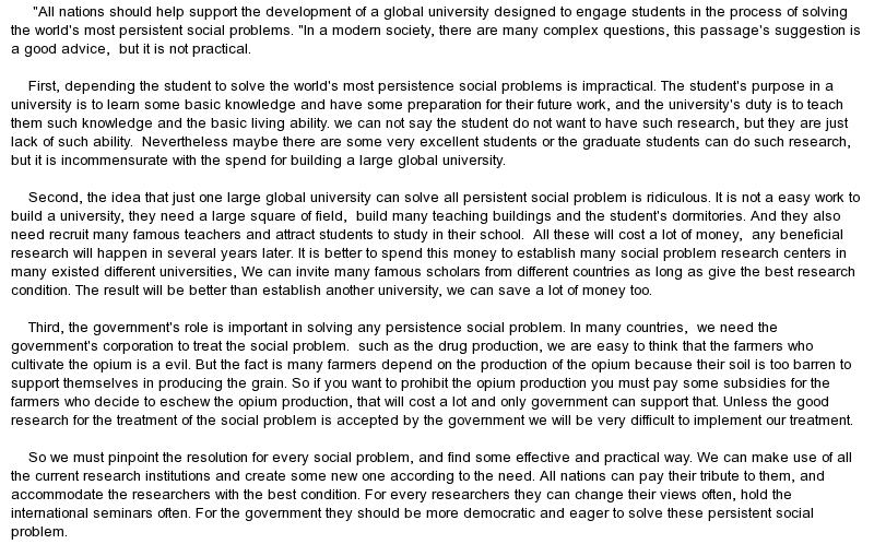 global economy problems essay
