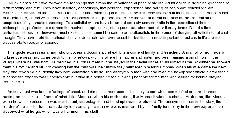 Existentialism in no exit essay Coursework Academic Writing Service