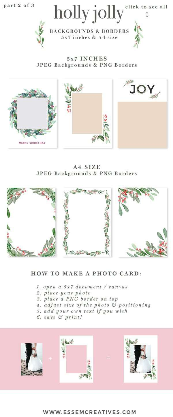 christmas card border designs