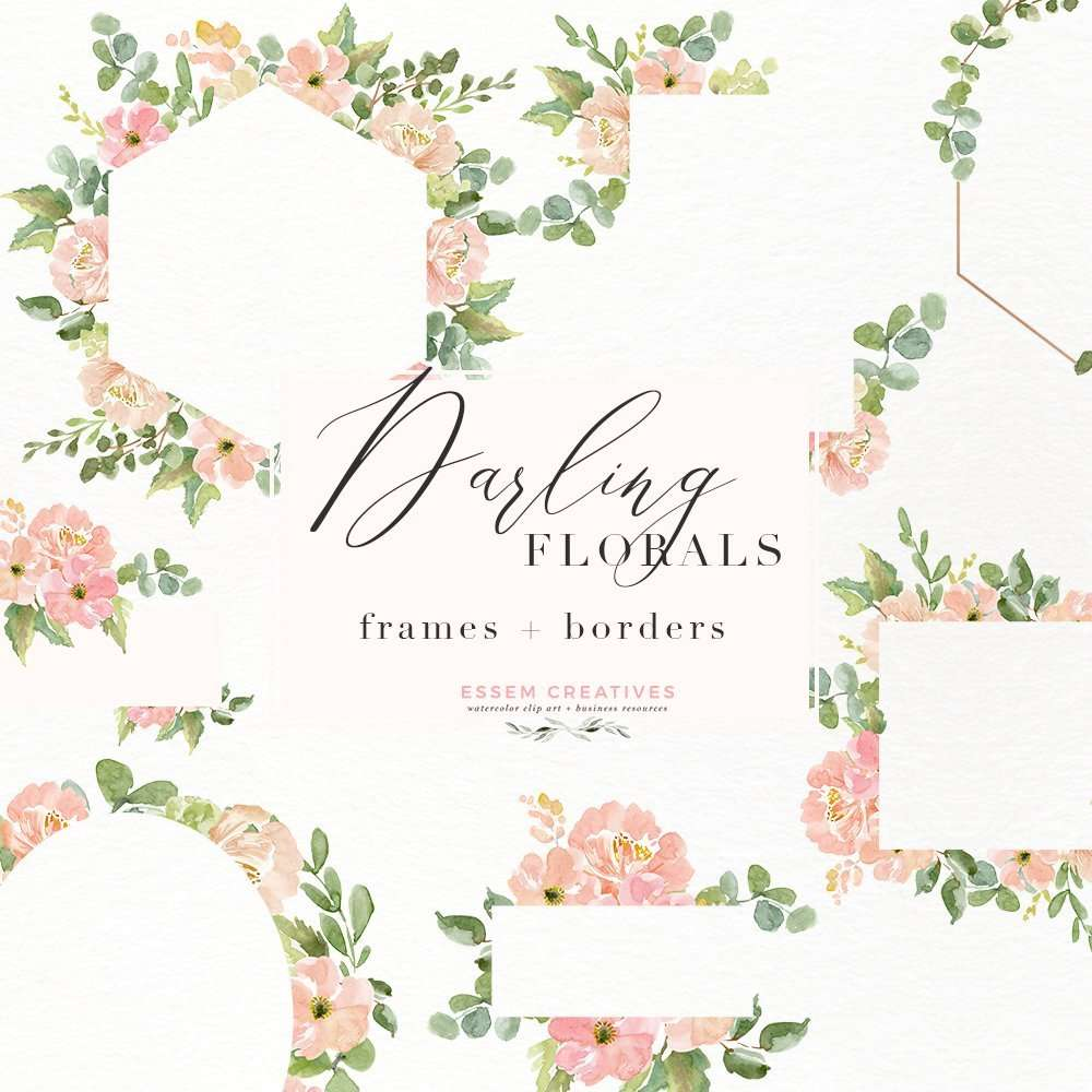Rustic Picture Frames Png Watercolor Flower Border Clipart Romantic Blush Peony Floral Frame Png For Southwestern Wedding Invitations Feminine Logos
