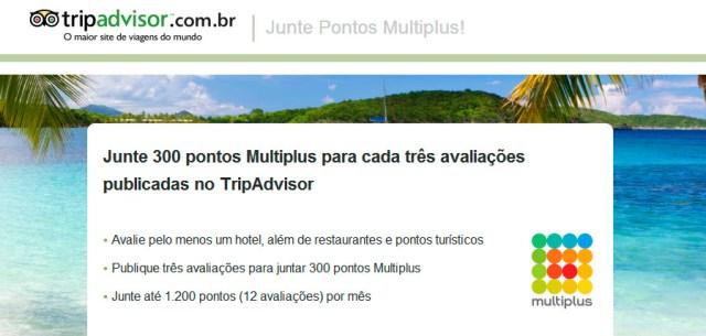 Pontos Multiplus com o TripAdvisor