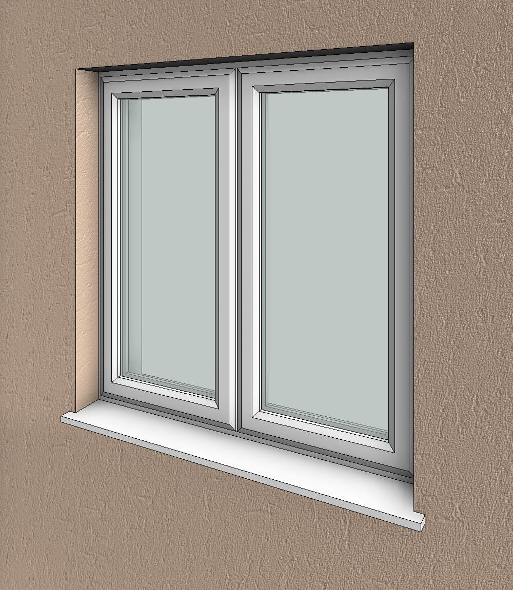 Double Glass Windows : Double window essential bim