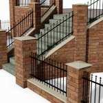 Brick & Steel Railing