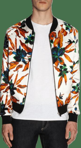 Balenciaga Floral Jacquard Bomber Balenciaga T-shirt floral flowers digital runway Ann Demeulemeester trousers Ann Demeulemeester Floral Damask Print Shirt men's manly guys designer spring 2013 trend