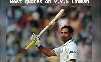 Best Quotes on VVS Laxman