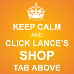 Keep Calm And Click Lance's Shop Tab Orange