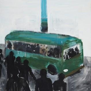 Bus Stop, 120 x 110 cm, 2008
