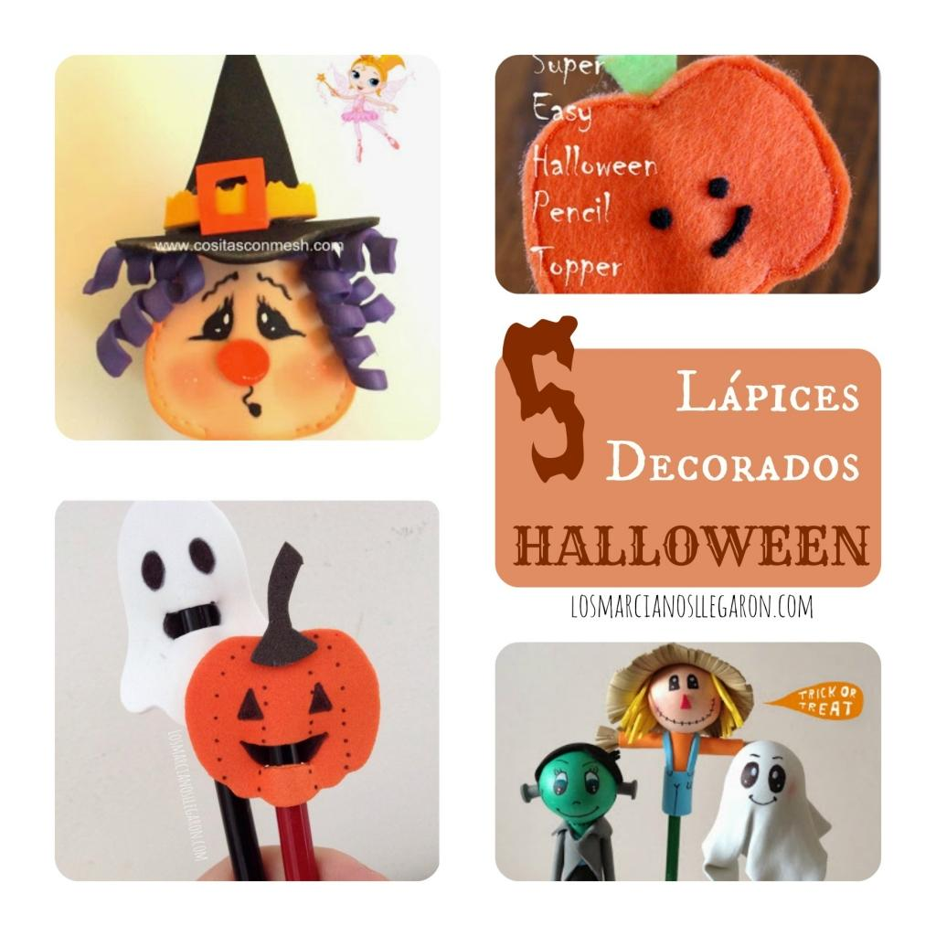 Ideas Para Decorar Halloween 5 Ideas Para Decorar Lápices En Halloween Manualidades