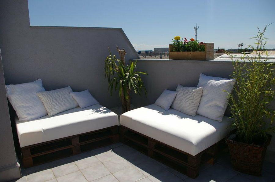 asientos de terraza con palets facilisimo