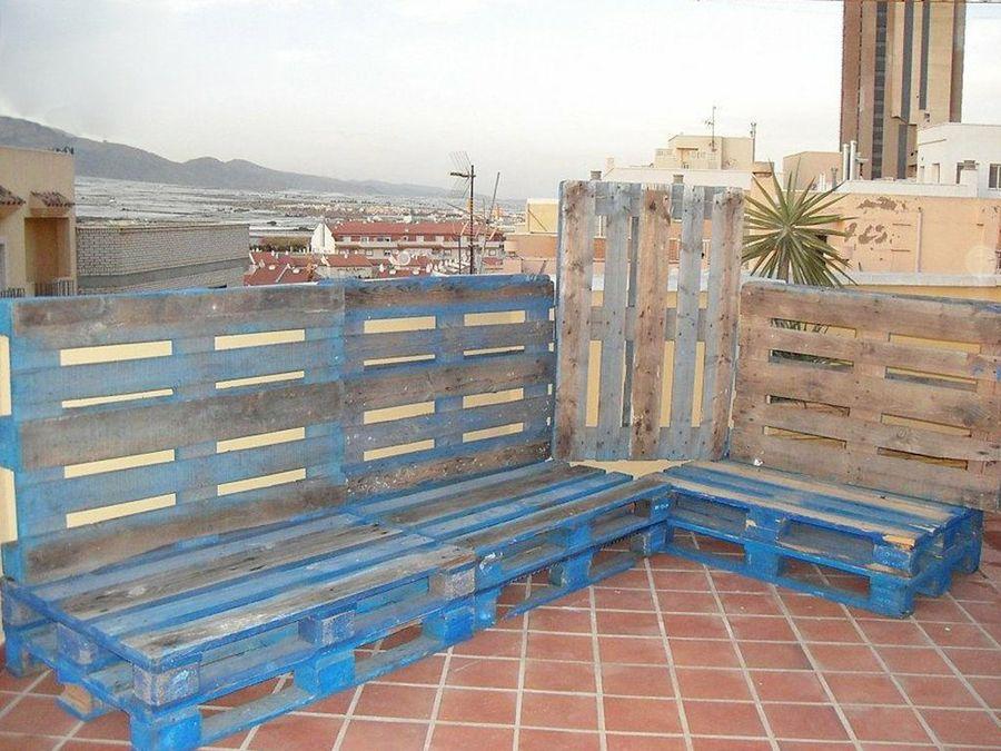 Muebles de terraza hechos con palets Bricolaje - Terrazas Con Palets
