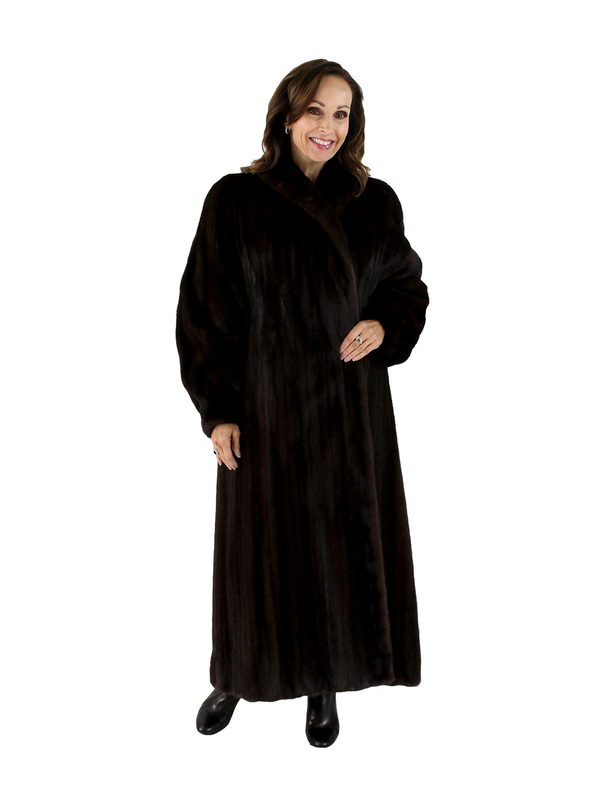Fur Womens Mink Fur Coat Women S Large 14 Dark Mahogany Estate Furs