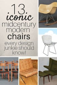 13 Iconic Mid Century Modern Chairs | Estate Sale Blog