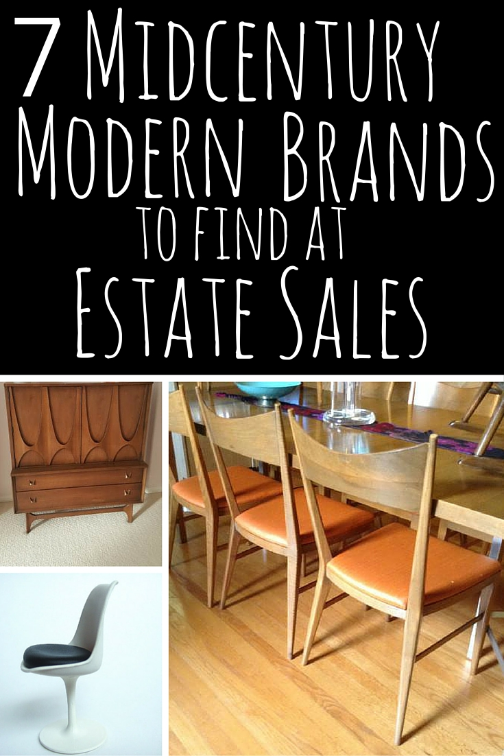 7 Midcentury Modern Brands At Estate Sales Estate Sale Blog