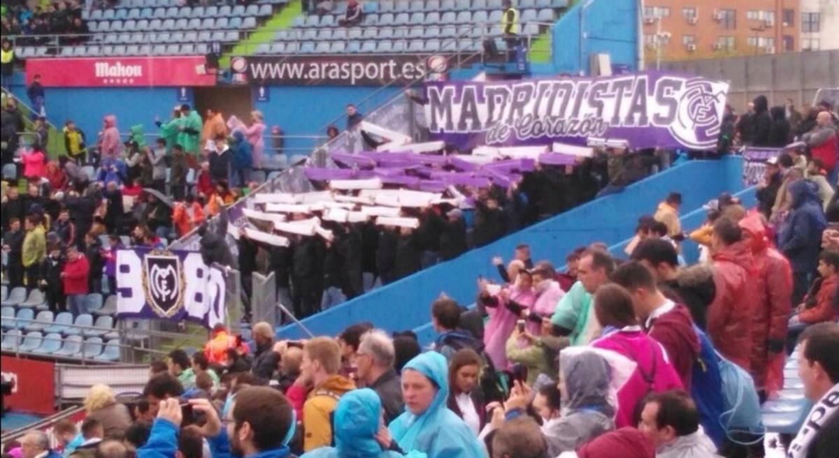 Un grupo de Ultras Sur gritan contra Florentino en Getafe