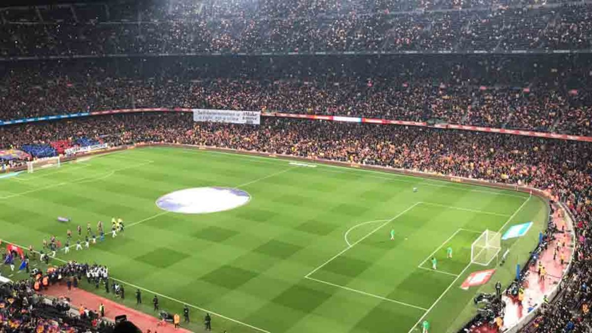 Mapa Asientos Camp Nou Espectacular Tifo Del Camp Nou