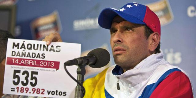 La denuncia del candidato opositor, Henrique Capriles. | Afp