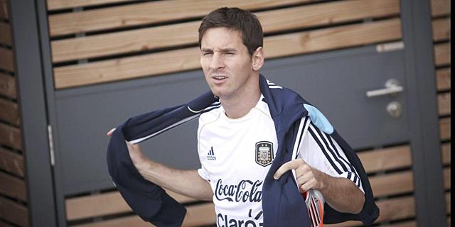 Lionel Messi, durante una concentración con su selección.   Efe