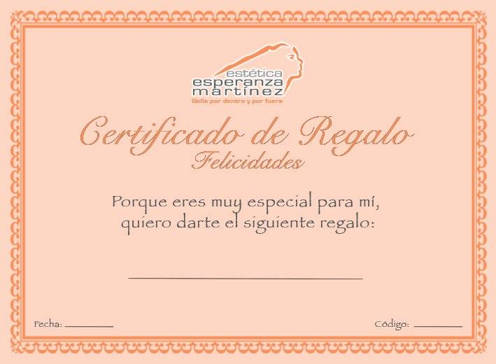 Estética Esperanza Martínez Certificado de Regalo