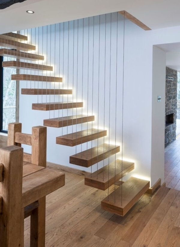 Decorar Escaleras Con Cuadros 5 Ideas Para Decorar Con Luces Led - Decoración De