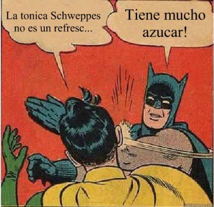 La tónica Schweppes no es un refresc... ¡Tiene mucho azúcar!