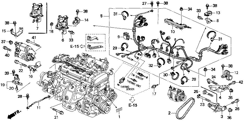 1998 acura integra engine department diagram